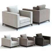 Kanapa i krzesło Co - Hockney Fotel 3d model