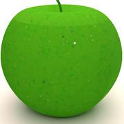Зеленое яблоко 3d model