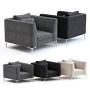 O sofá e cadeira Co - poltrona Picasso 3d model