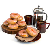 Donuts set 03 - Coffeeshop Edition 3d model
