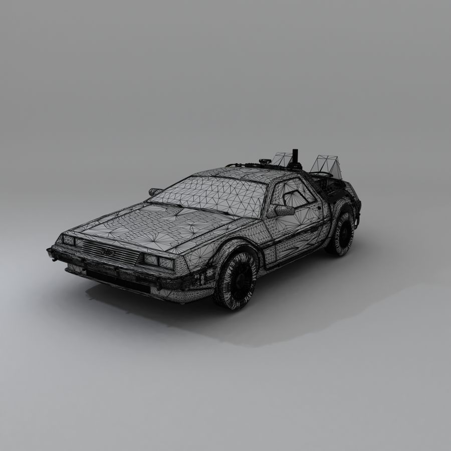 DeLorean DMC-12 Back To The Future royalty-free 3d model - Preview no. 17