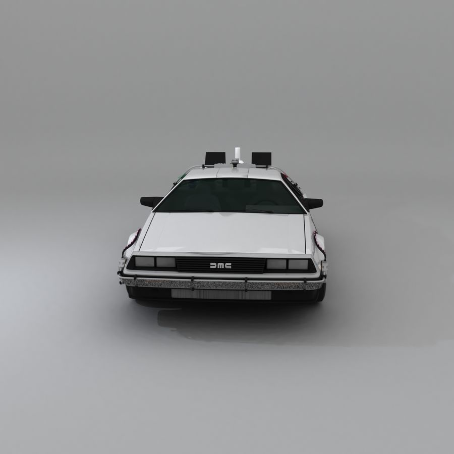 DeLorean DMC-12 Back To The Future royalty-free 3d model - Preview no. 14