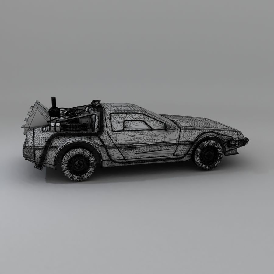 DeLorean DMC-12 Back To The Future royalty-free 3d model - Preview no. 23