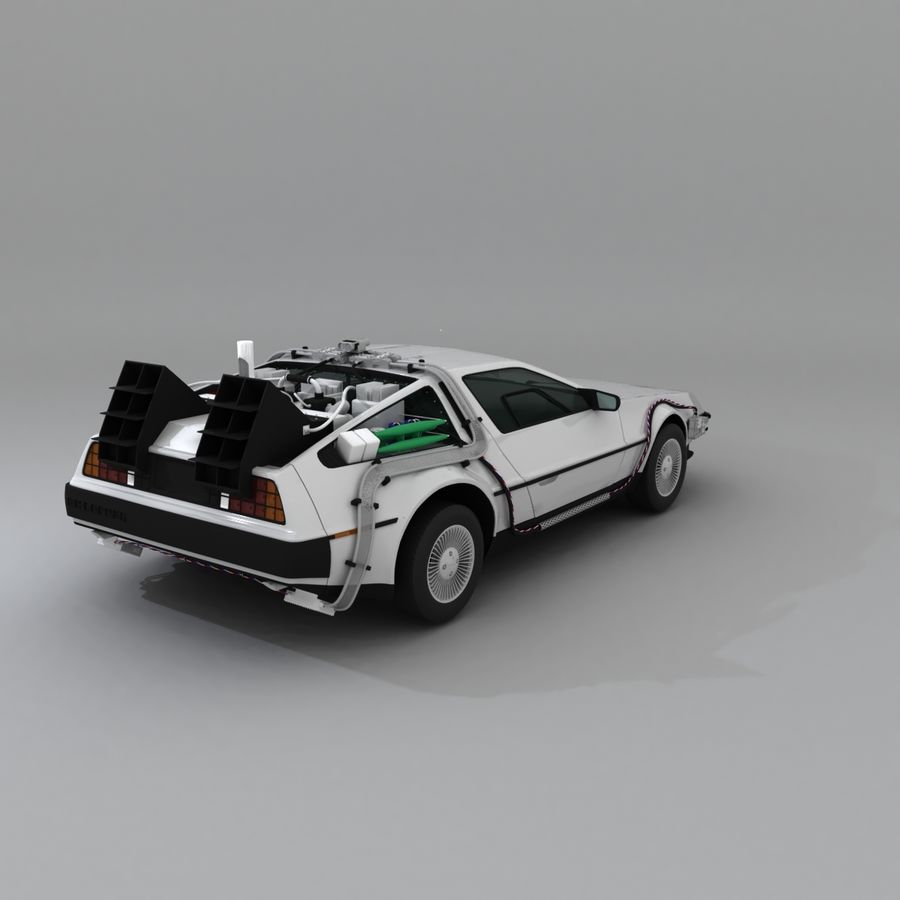DeLorean DMC-12 Back To The Future royalty-free 3d model - Preview no. 9