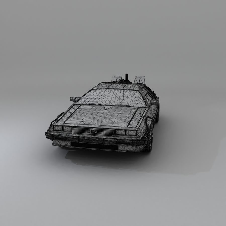 DeLorean DMC-12 Back To The Future royalty-free 3d model - Preview no. 16