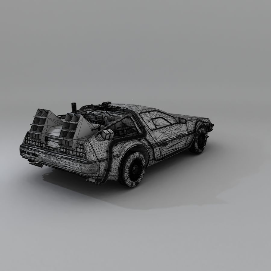 DeLorean DMC-12 Back To The Future royalty-free 3d model - Preview no. 22