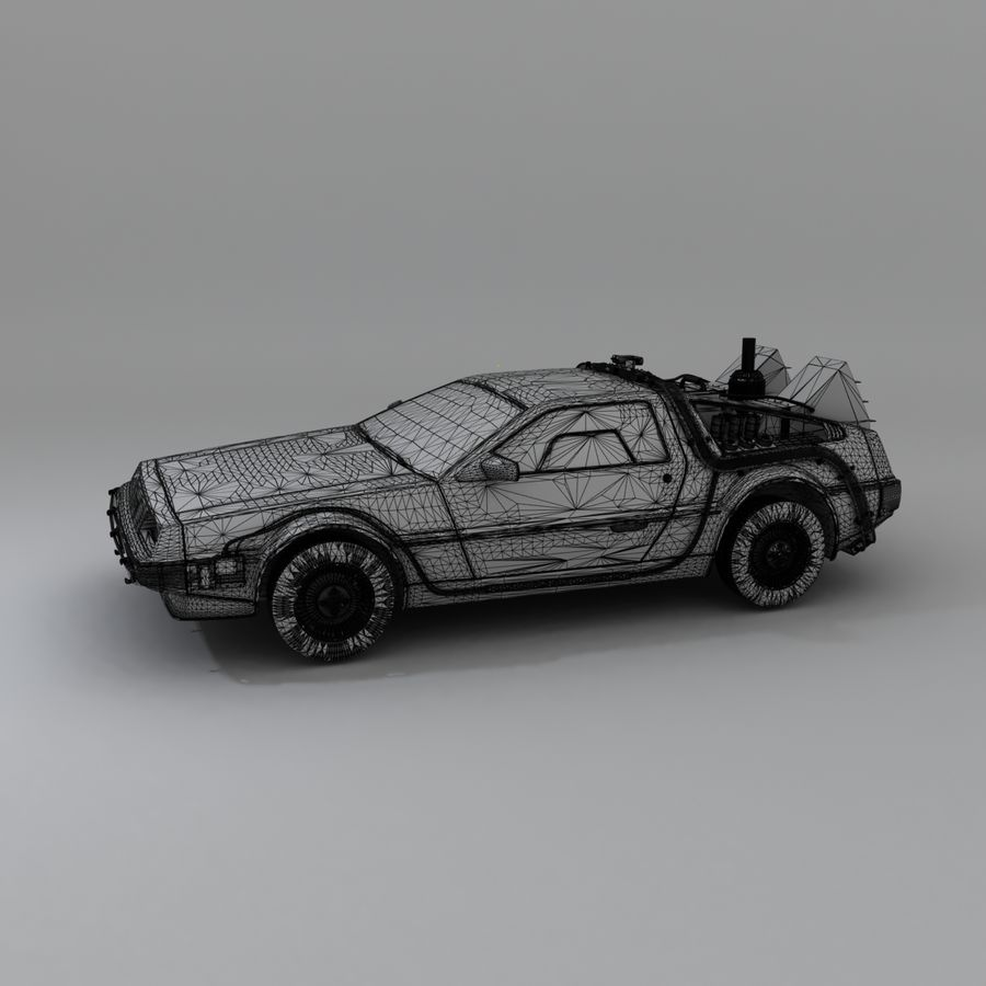 DeLorean DMC-12 Back To The Future royalty-free 3d model - Preview no. 18