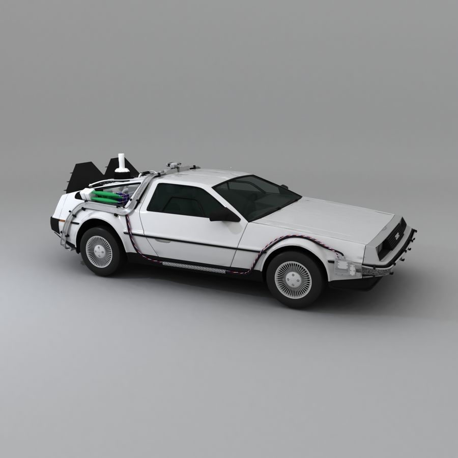 DeLorean DMC-12 Back To The Future royalty-free 3d model - Preview no. 11