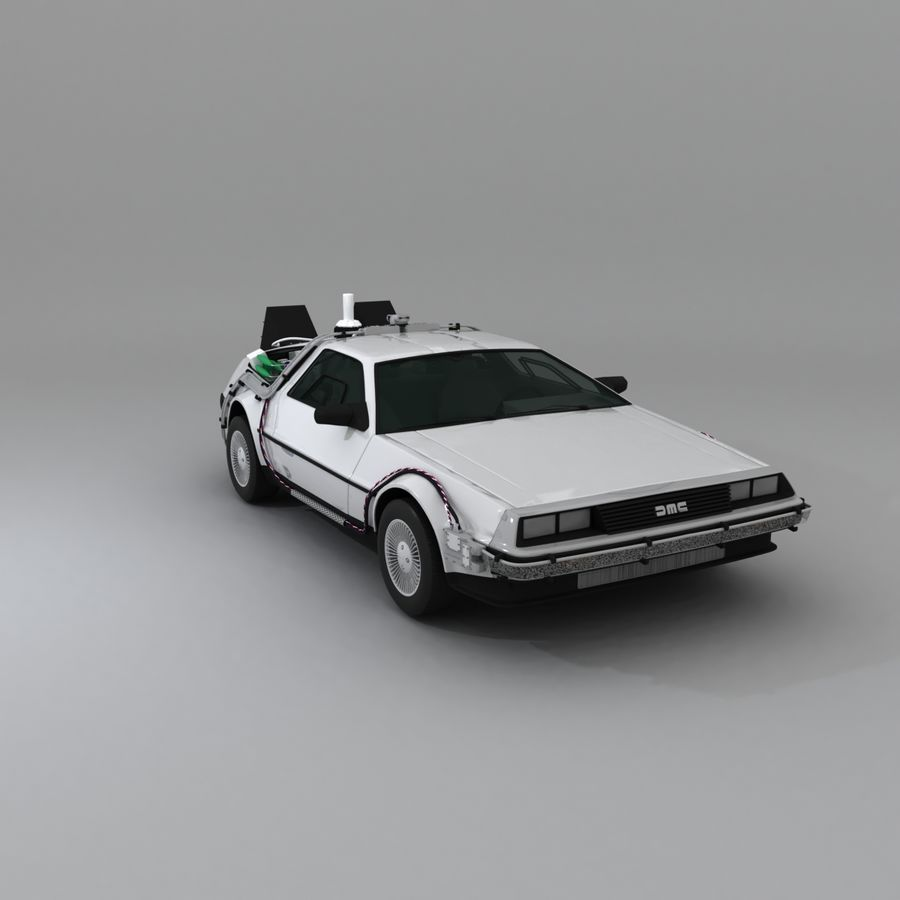 DeLorean DMC-12 Back To The Future royalty-free 3d model - Preview no. 12