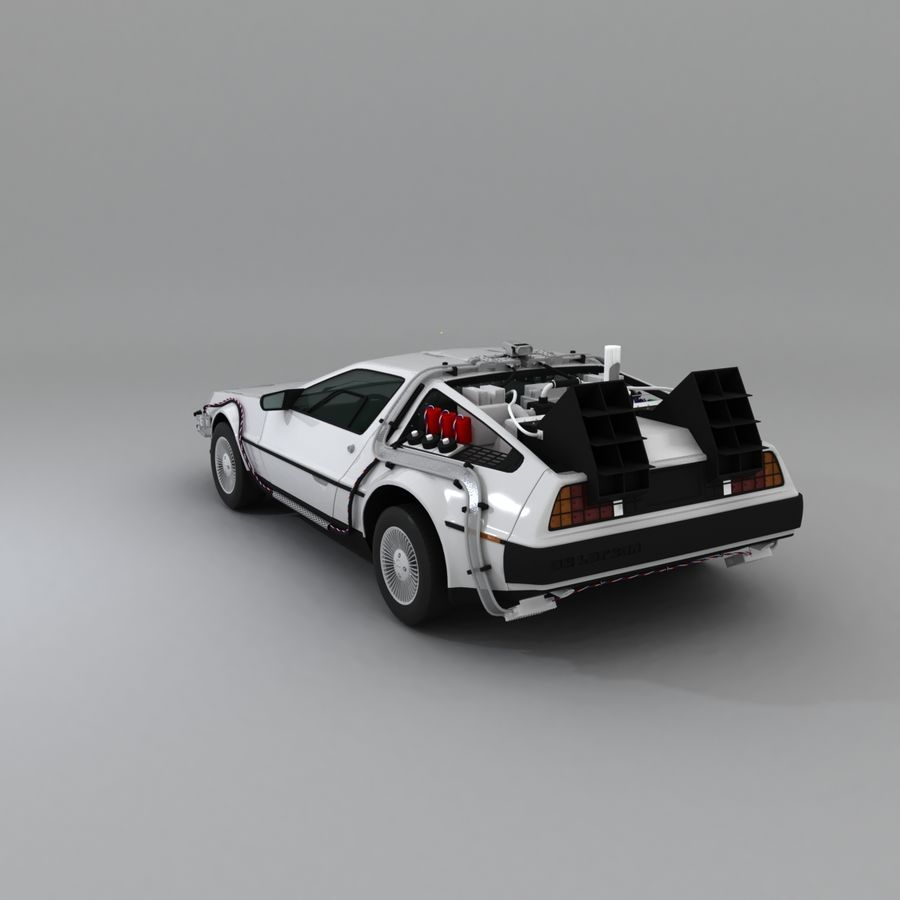 DeLorean DMC-12 Back To The Future royalty-free 3d model - Preview no. 7