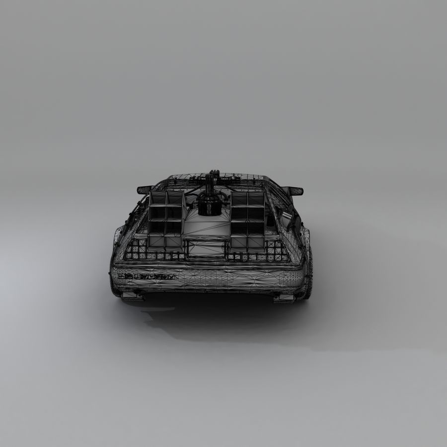 DeLorean DMC-12 Back To The Future royalty-free 3d model - Preview no. 21