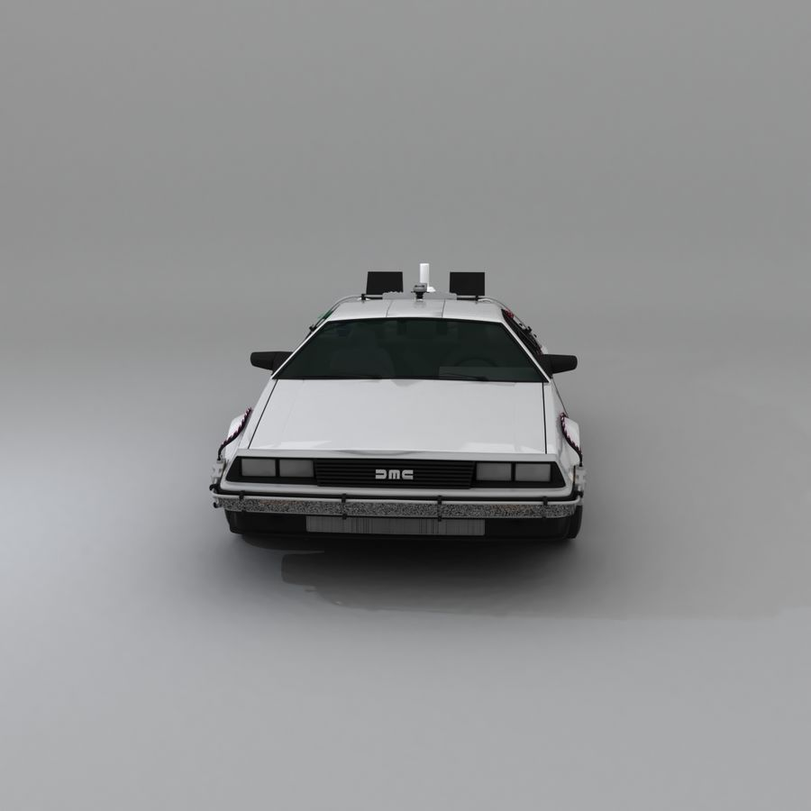 DeLorean DMC-12 Back To The Future royalty-free 3d model - Preview no. 2