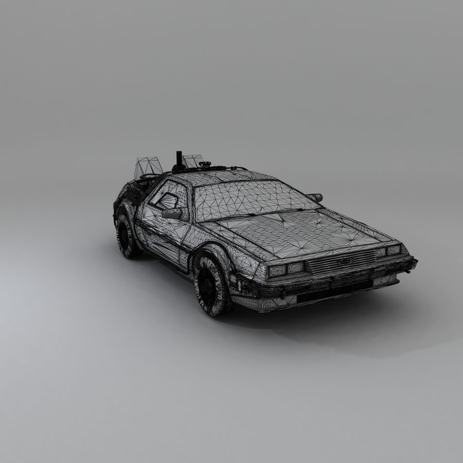 DeLorean DMC-12 Back To The Future royalty-free 3d model - Preview no. 25