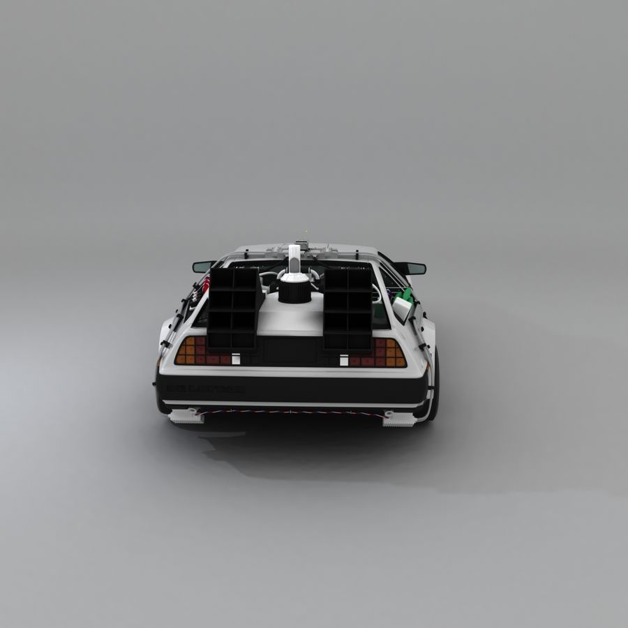DeLorean DMC-12 Back To The Future royalty-free 3d model - Preview no. 8