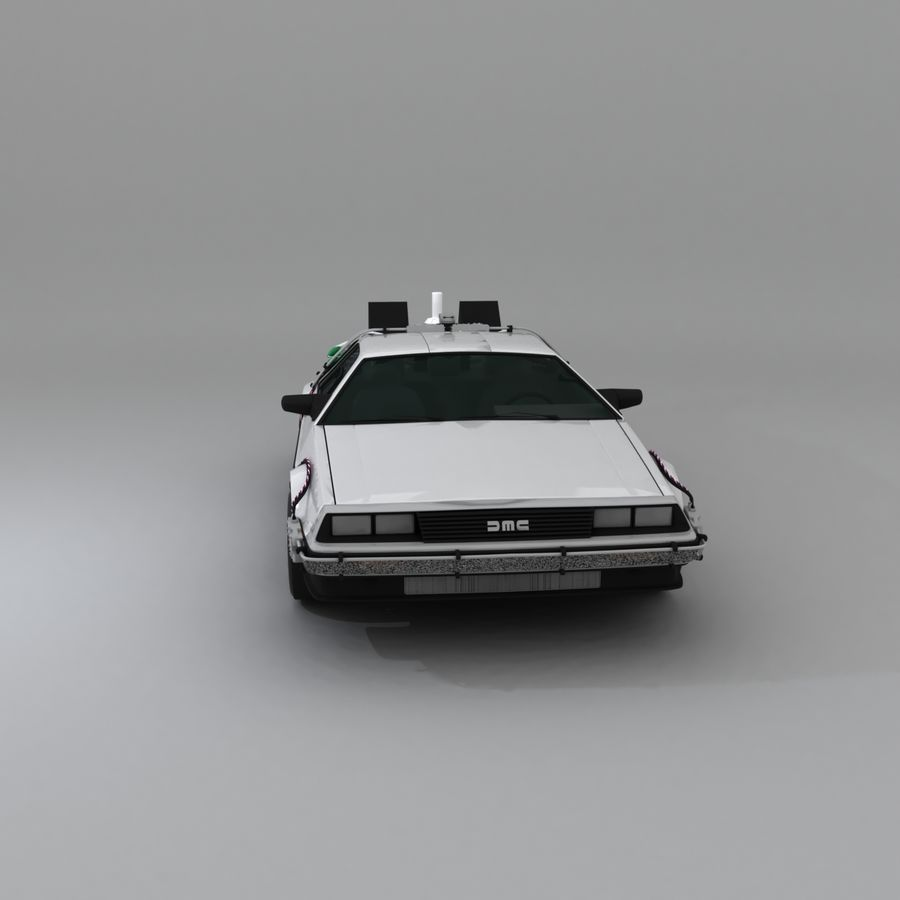 DeLorean DMC-12 Back To The Future royalty-free 3d model - Preview no. 13