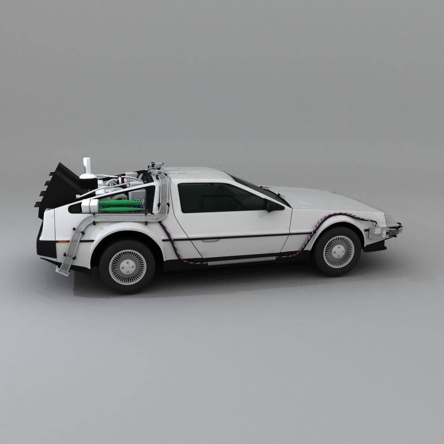 DeLorean DMC-12 Back To The Future royalty-free 3d model - Preview no. 10