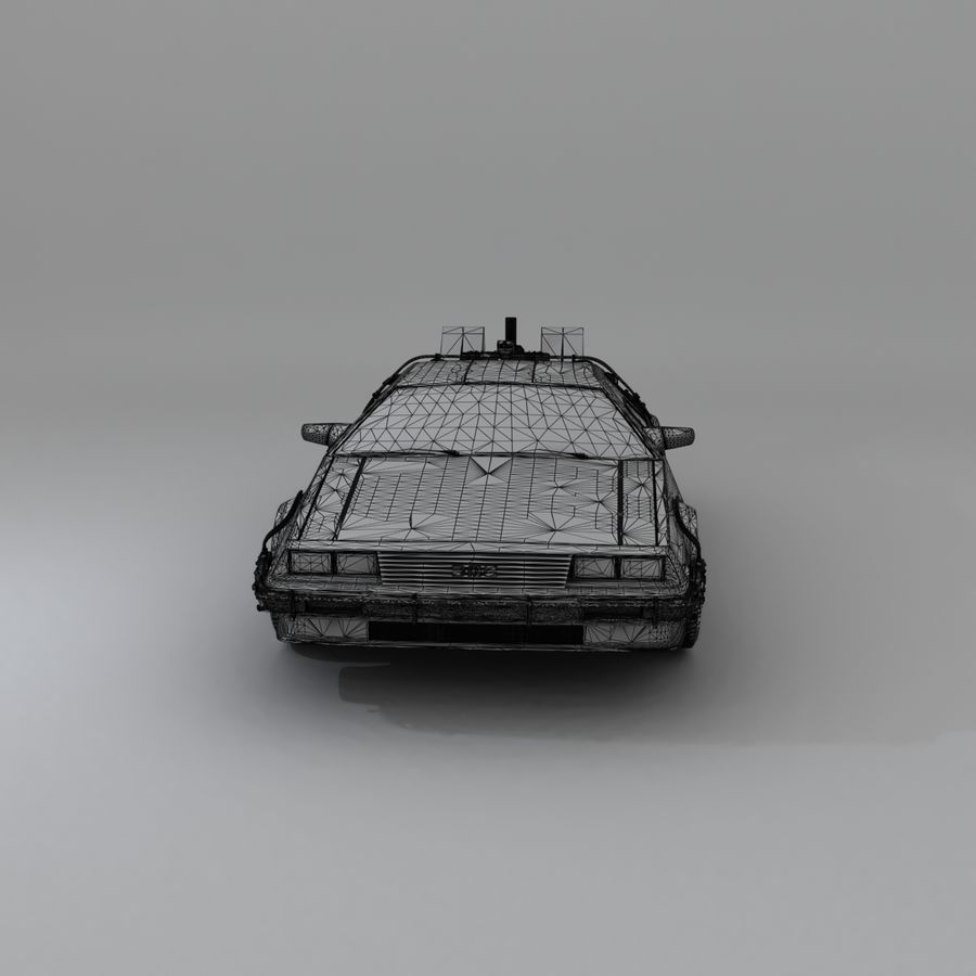DeLorean DMC-12 Back To The Future royalty-free 3d model - Preview no. 27