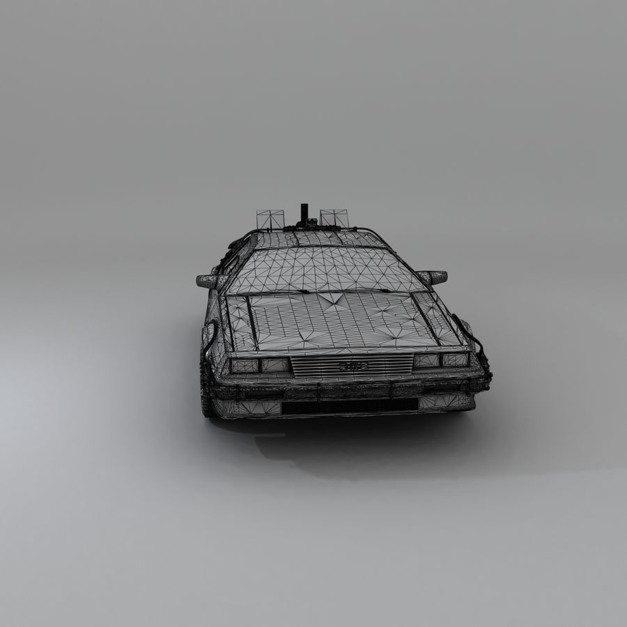 DeLorean DMC-12 Back To The Future royalty-free 3d model - Preview no. 26