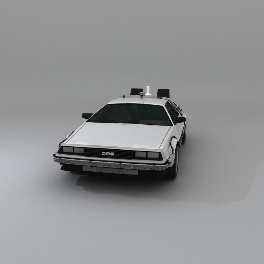 DeLorean DMC-12 Back To The Future royalty-free 3d model - Preview no. 3