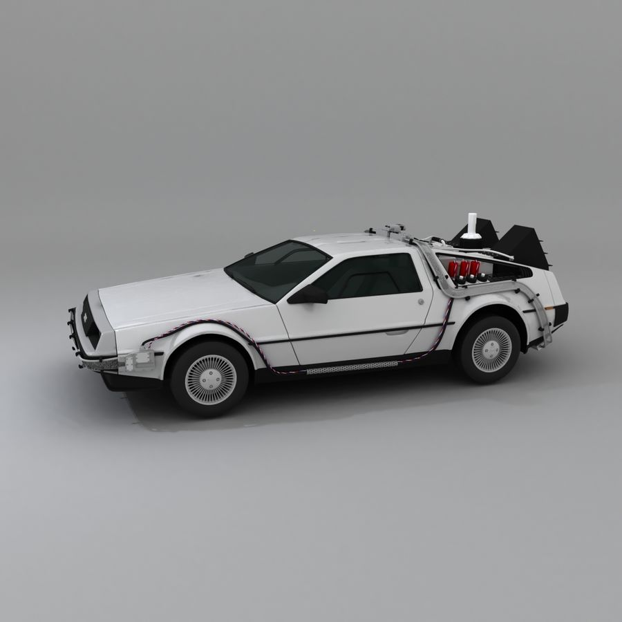 DeLorean DMC-12 Back To The Future royalty-free 3d model - Preview no. 5