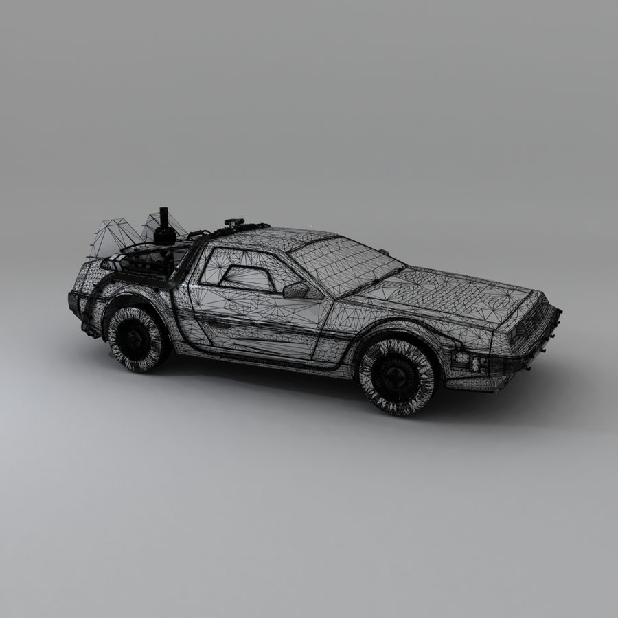 DeLorean DMC-12 Back To The Future royalty-free 3d model - Preview no. 24