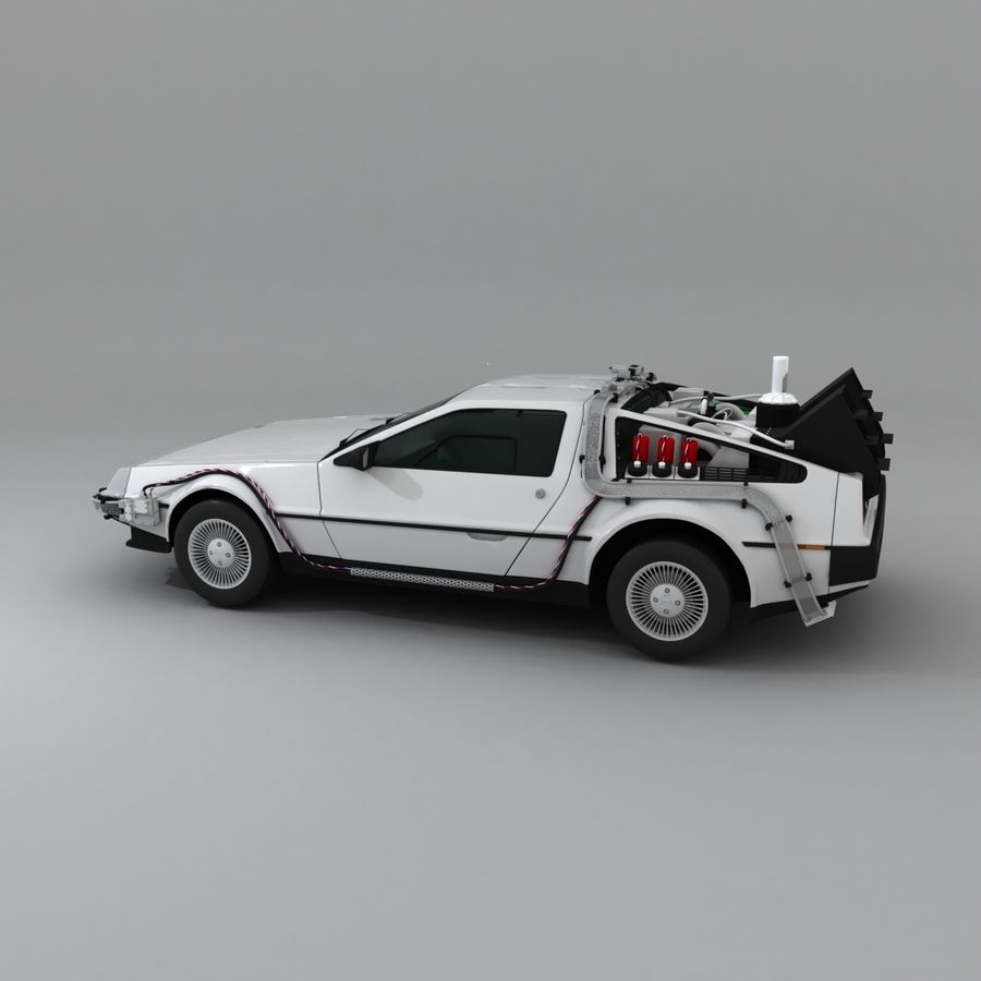 DeLorean DMC-12 Back To The Future royalty-free 3d model - Preview no. 6