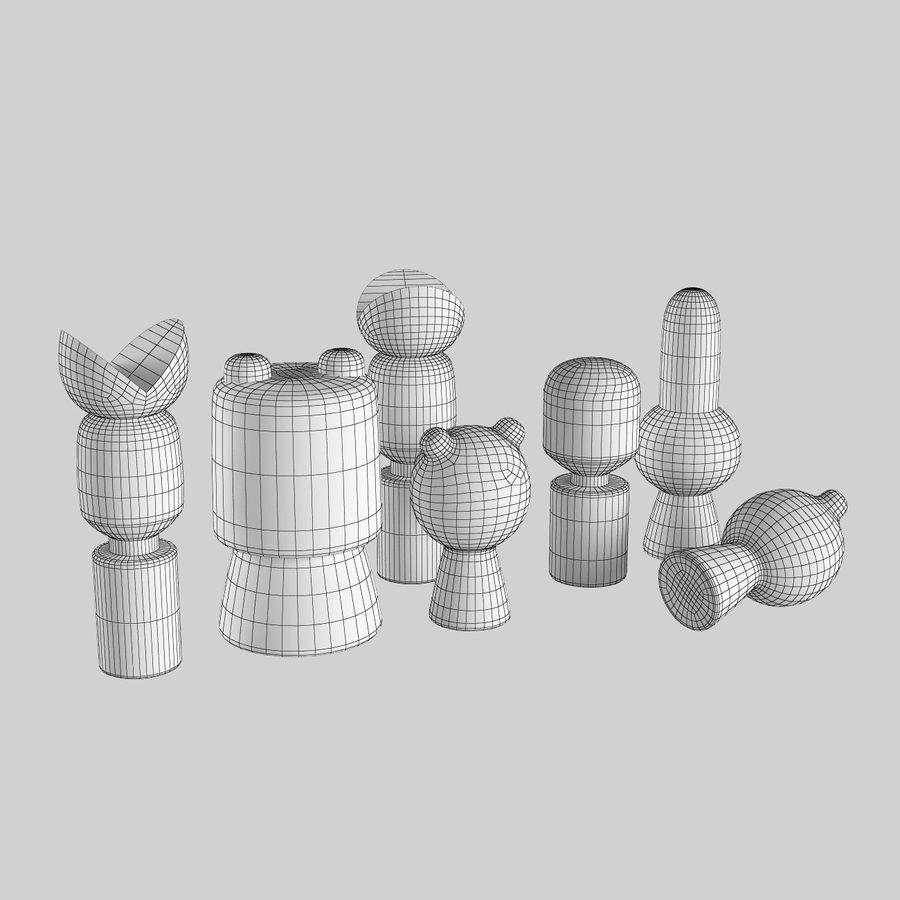Animales de juguete del bosque de madera royalty-free modelo 3d - Preview no. 6