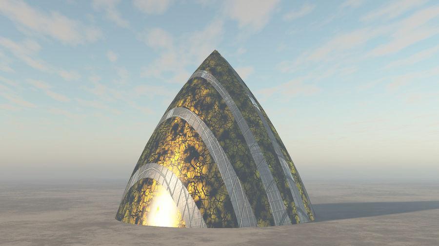 Lass das außerirdische Raumschiff fallen royalty-free 3d model - Preview no. 3