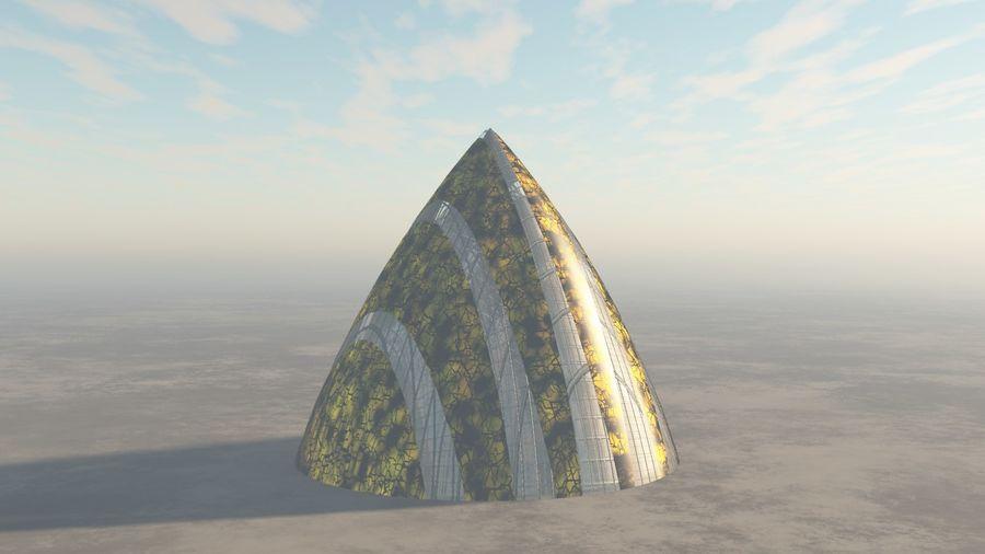 Lass das außerirdische Raumschiff fallen royalty-free 3d model - Preview no. 2