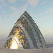 Lass das außerirdische Raumschiff fallen 3d model