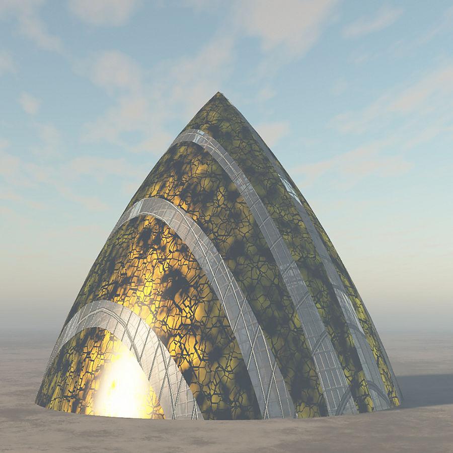 Lass das außerirdische Raumschiff fallen royalty-free 3d model - Preview no. 1