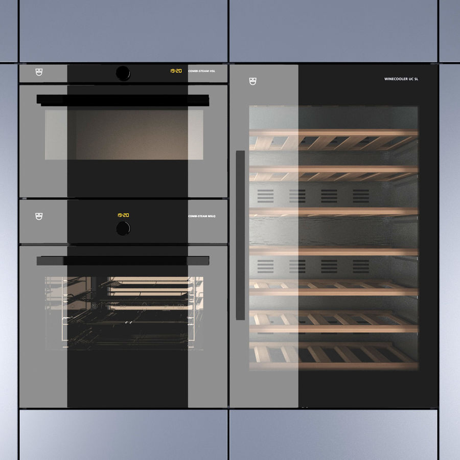 Modern Kitchen royalty-free 3d model - Preview no. 5
