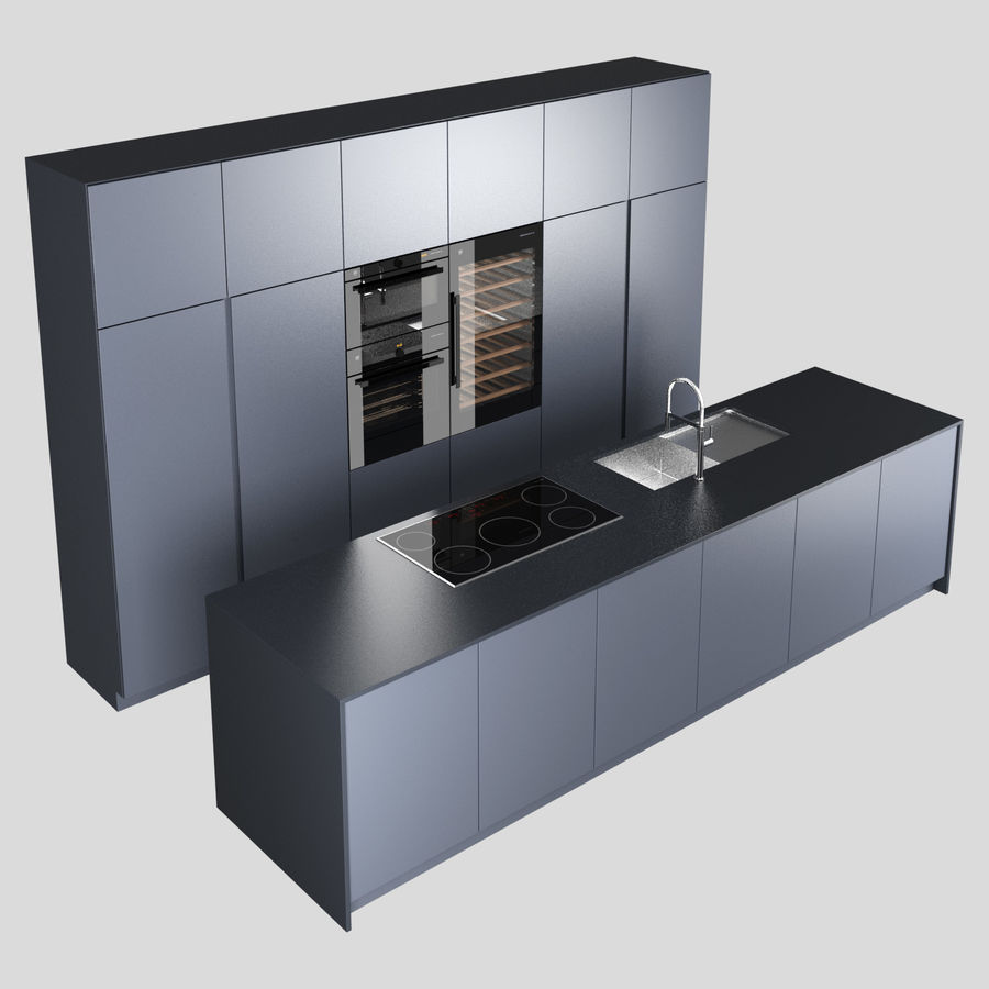 Modern Kitchen royalty-free 3d model - Preview no. 6