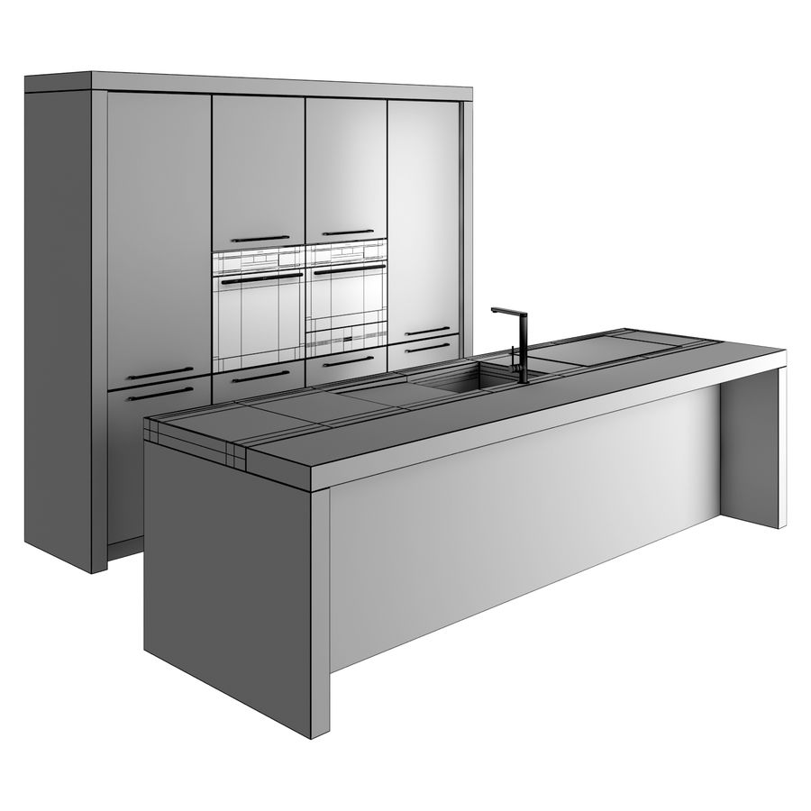 Life Kitchen royalty-free 3d model - Preview no. 5