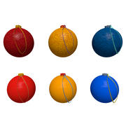 Bolas de árvore de Natal 3d model
