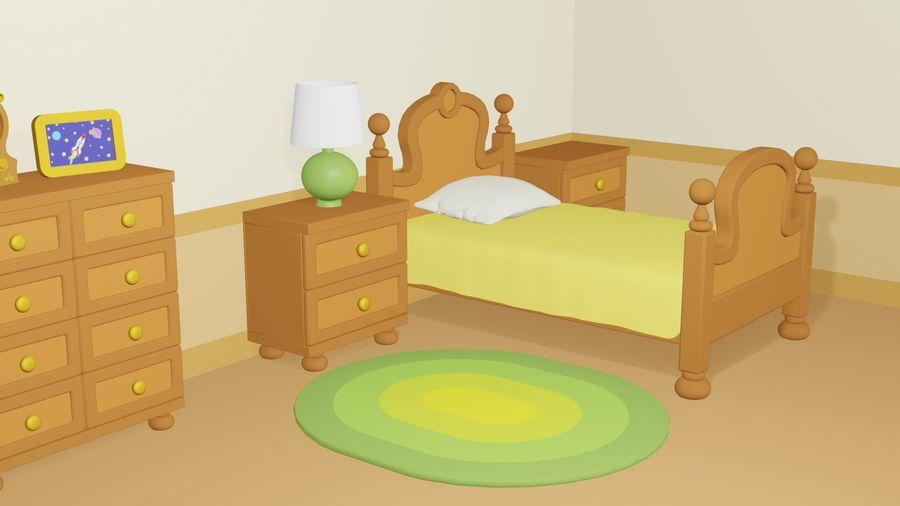 Çizgi film yatak odası royalty-free 3d model - Preview no. 6