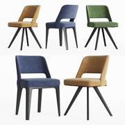Poliform Owens Yemek Sandalyesi Seti 3d model
