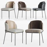 Poliform Sophie Chair Set 3d model