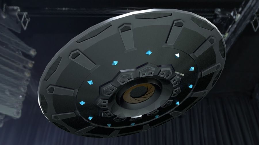 Alien UFO Space Ship royalty-free 3d model - Preview no. 4