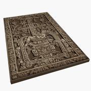 King Pakal tomb lid 3d model