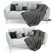 Sofa Zoe double 3d model