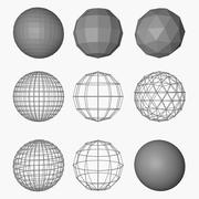 Spheres 3d model