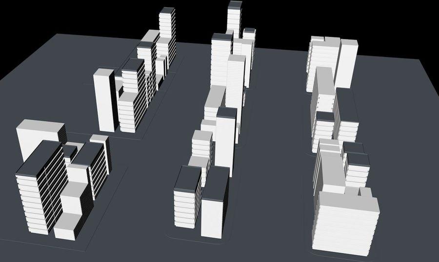 都市の建物 royalty-free 3d model - Preview no. 2