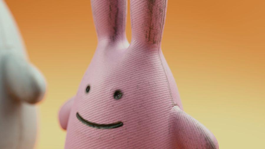 Fylld kaninleksak royalty-free 3d model - Preview no. 5