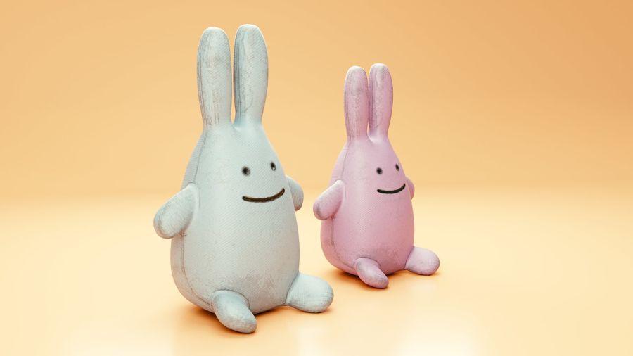 Fylld kaninleksak royalty-free 3d model - Preview no. 3