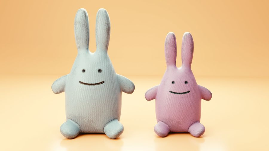 Fylld kaninleksak royalty-free 3d model - Preview no. 1