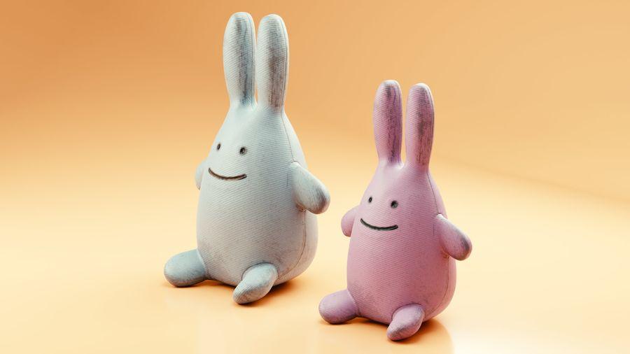 Fylld kaninleksak royalty-free 3d model - Preview no. 2