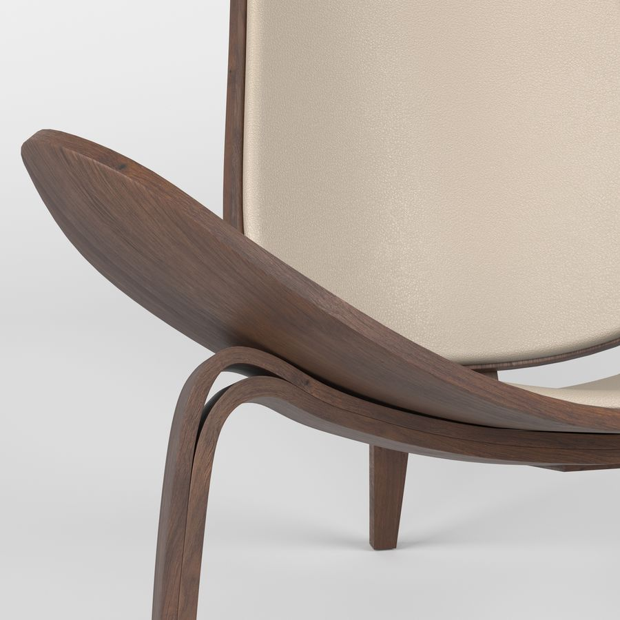 Hans Wegner sandalye royalty-free 3d model - Preview no. 6
