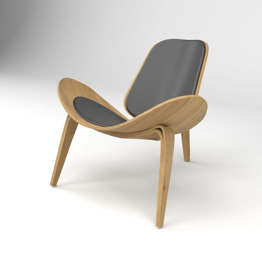 Hans Wegner sandalye royalty-free 3d model - Preview no. 2