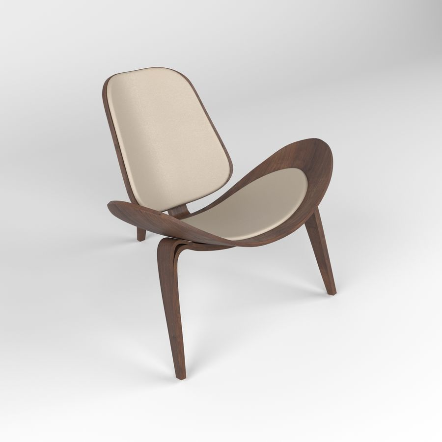Hans Wegner sandalye royalty-free 3d model - Preview no. 9